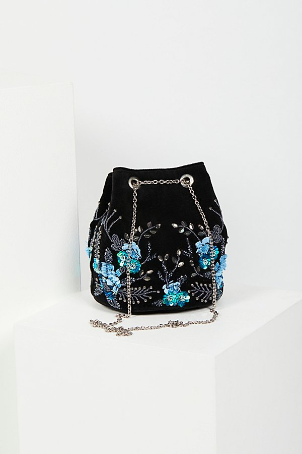 Slide View 4: Floral Embroidered Bucket Bag