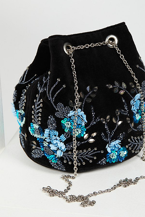 Slide View 5: Floral Embroidered Bucket Bag