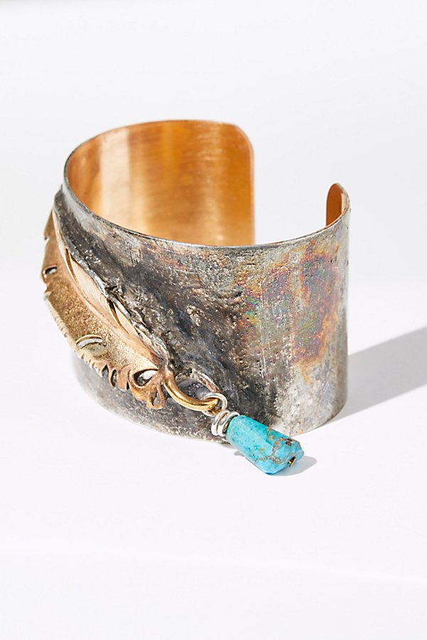 Slide View 4: Feather Wrap Turquoise Cuff