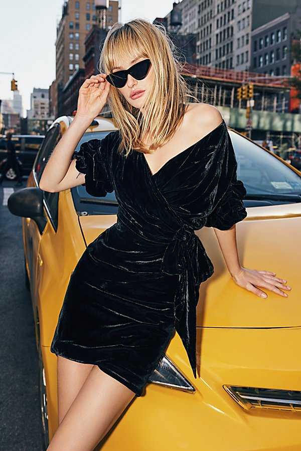 Slide View 1: Caroline Velvet Wrap Dress