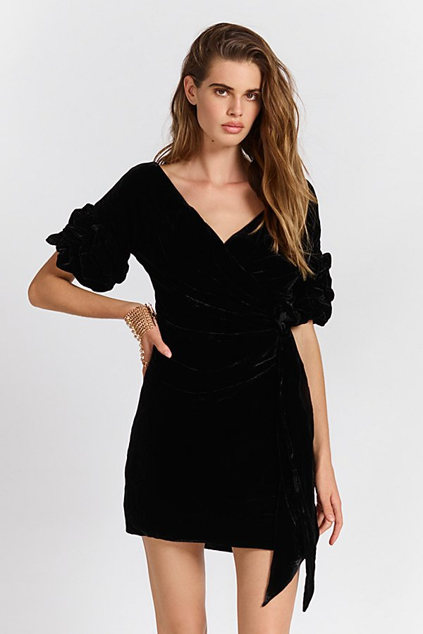 Slide View 2: Caroline Velvet Wrap Dress