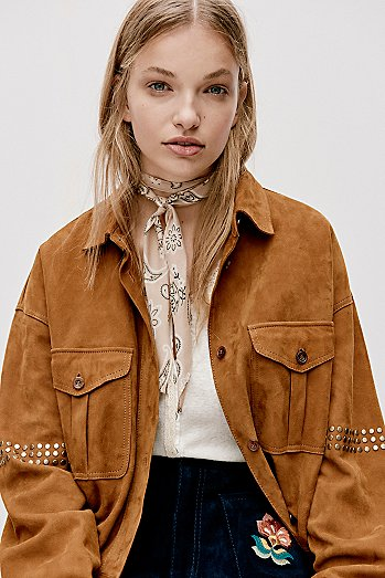 Stud Shirt Jacket