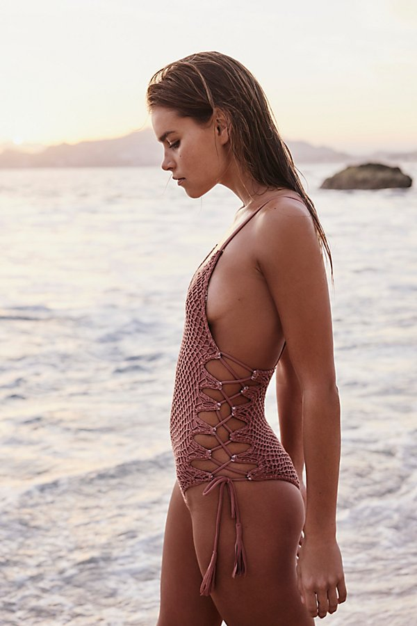 Slide View 1: Crochet Florence One-Piece Swimsuit