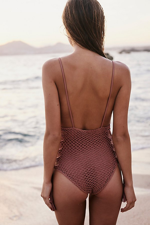 Slide View 2: Crochet Florence One-Piece Swimsuit