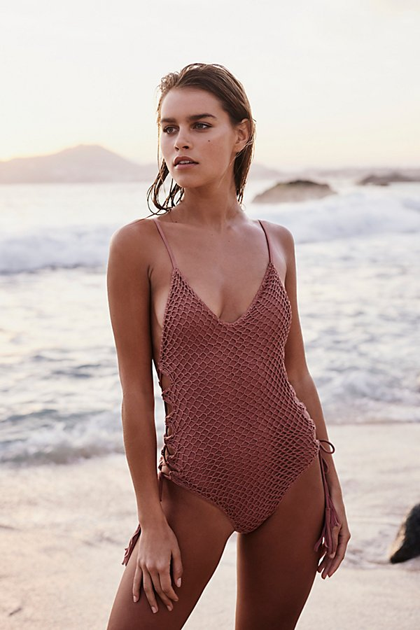 Slide View 3: Crochet Florence One-Piece Swimsuit