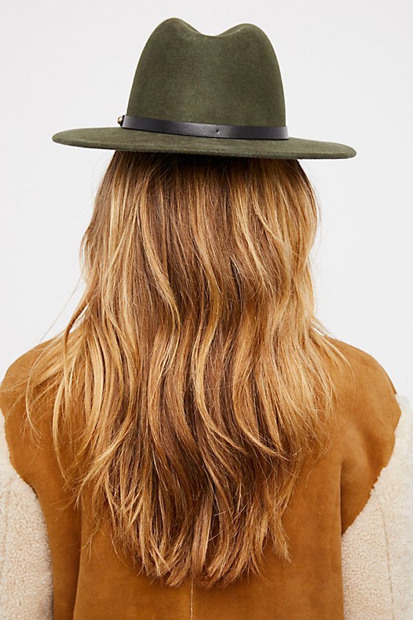 Slide View 2: Wythe Leather Band Felt Hat