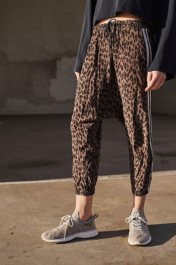 Leopard print harem pants
