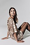 Thumbnail View 1: Sequin T-Shirt Dress