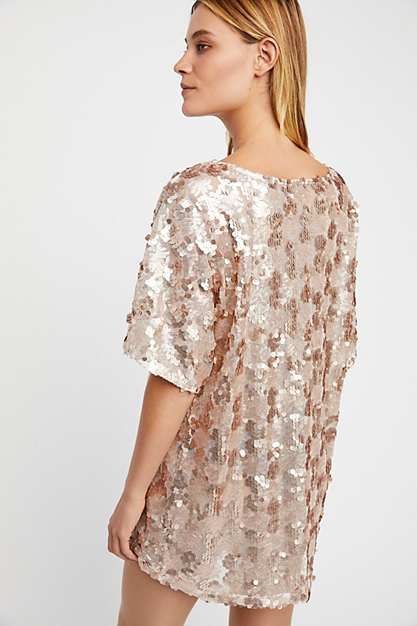 Slide View 3: Sequin T-Shirt Dress