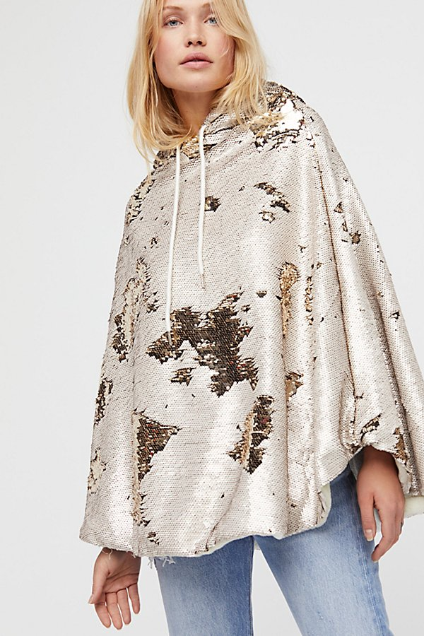 Slide View 1: Stay Golden Sequin Poncho