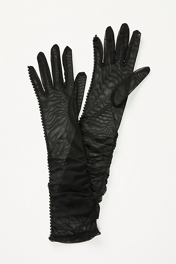 Slide View 2: Magic Touch Embellished Mesh Gloves