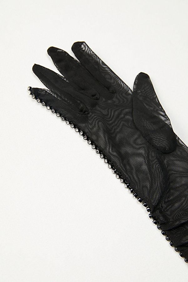 Slide View 3: Magic Touch Embellished Mesh Gloves