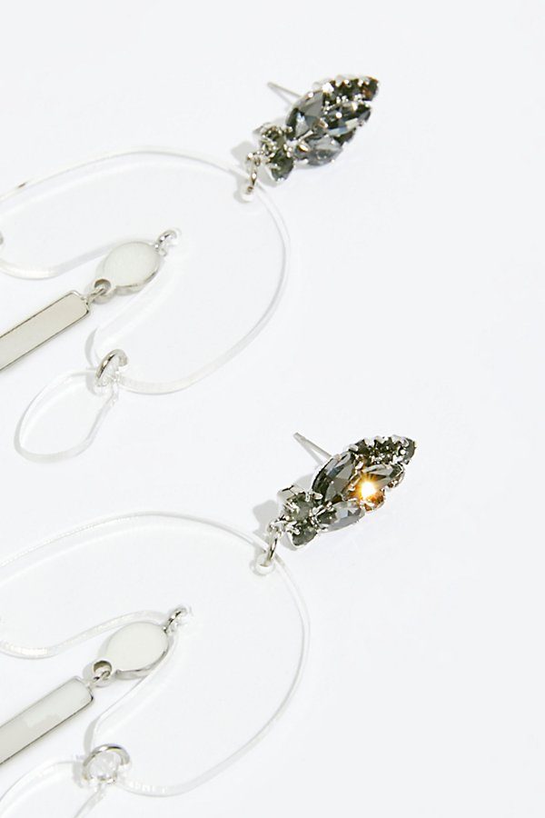 Slide View 4: Lucite Crystal Earrings