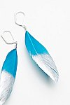 Thumbnail View 3: Metallic Dipped Feather Earrings