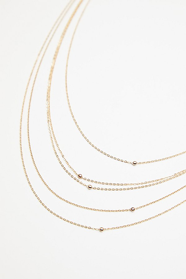 Slide View 3: Tyche Delicate 5 Tier Necklace
