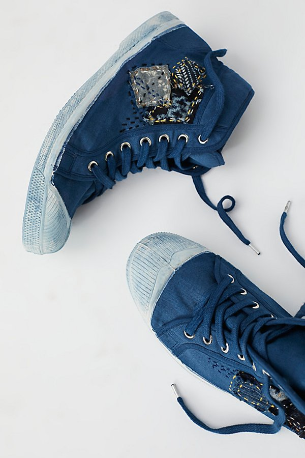 Slide View 1: Hand-Dyed Indigo Patch Tennis Shoes
