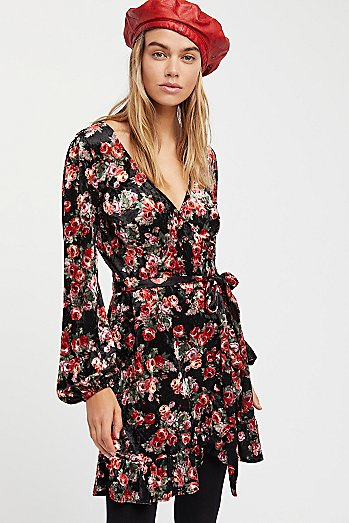 Fall Crush Wrap Dress