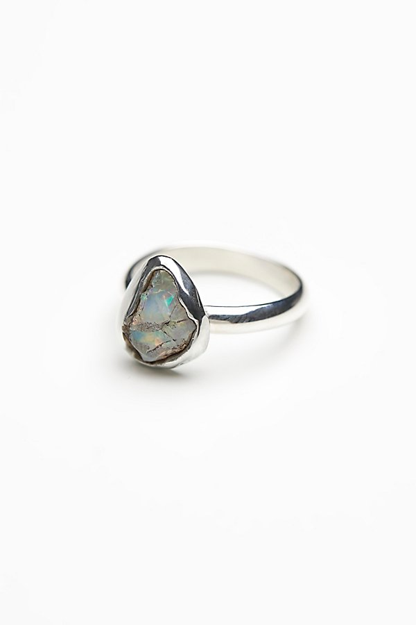 Slide View 2: Handcrafted Raw Stone Ring