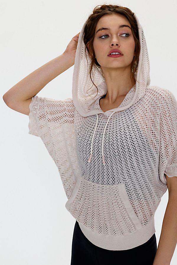 Chic crochet hoodie
