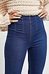 Thumbnail View 3: Ultra-High Pull-On Crop Jeans