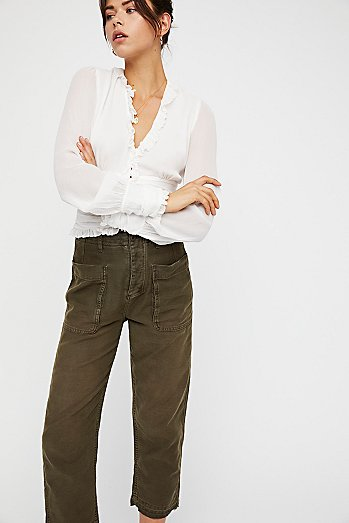 Rising Water Straight Crop Pants