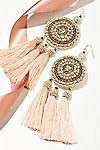 Thumbnail View 1: Winona Embellished Tassel Earrings