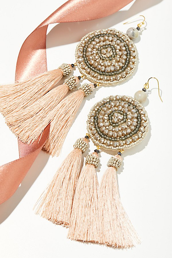 Slide View 1: Winona Embellished Tassel Earrings