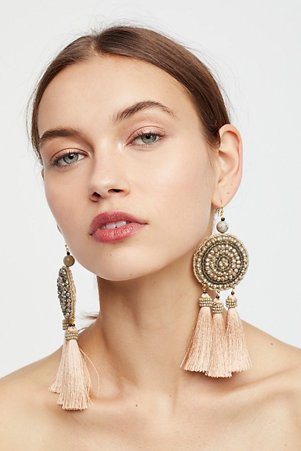 Slide View 4: Winona Embellished Tassel Earrings