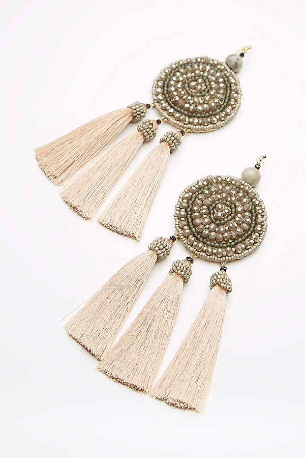 Slide View 3: Winona Embellished Tassel Earrings