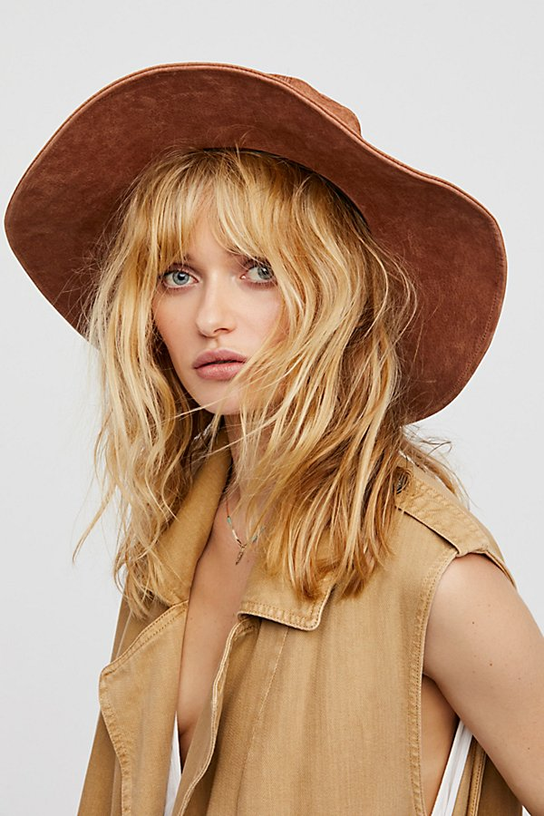 Slide View 2: Woodstock Suede Floppy Hat