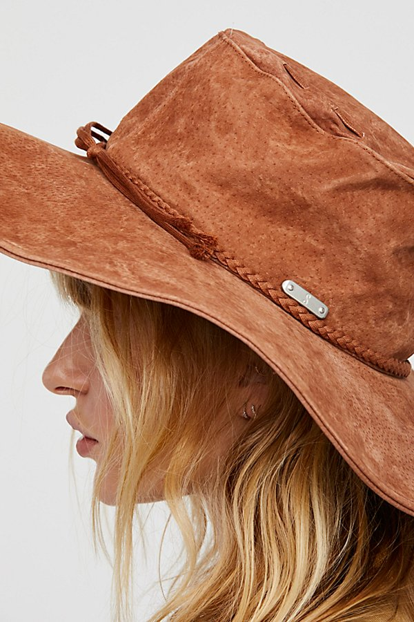Slide View 3: Woodstock Suede Floppy Hat