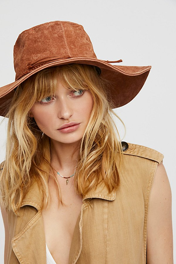 Slide View 1: Woodstock Suede Floppy Hat