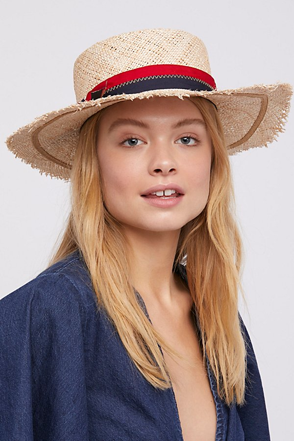 Slide View 3: Lucky Stripe Straw Boater