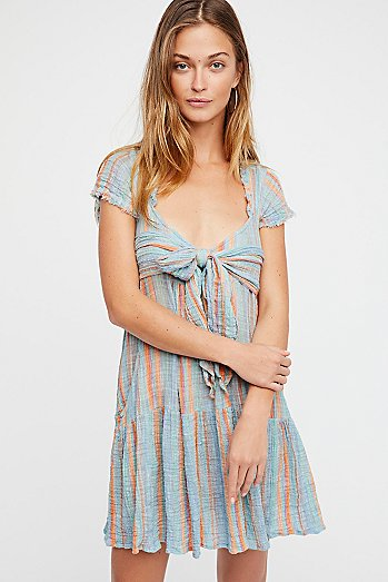 Maia Striped Wrap Dress