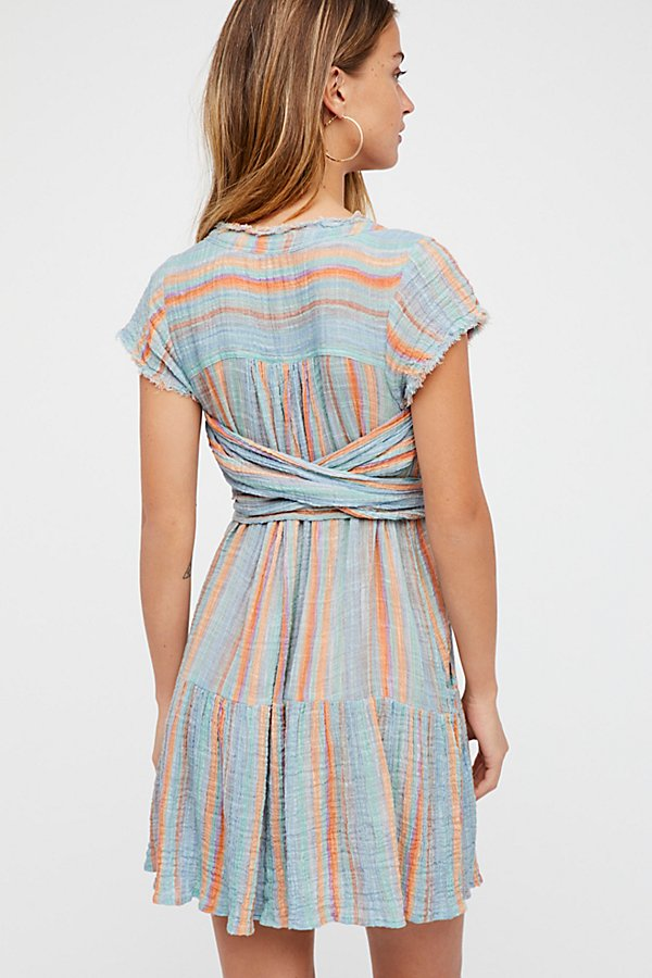 Slide View 2: Maia Striped Wrap Dress