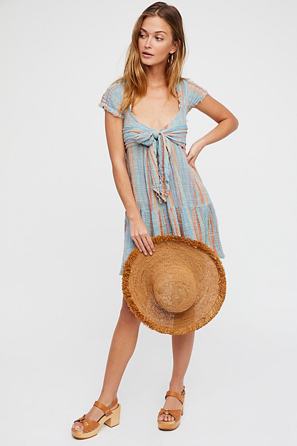 Slide View 4: Maia Striped Wrap Dress