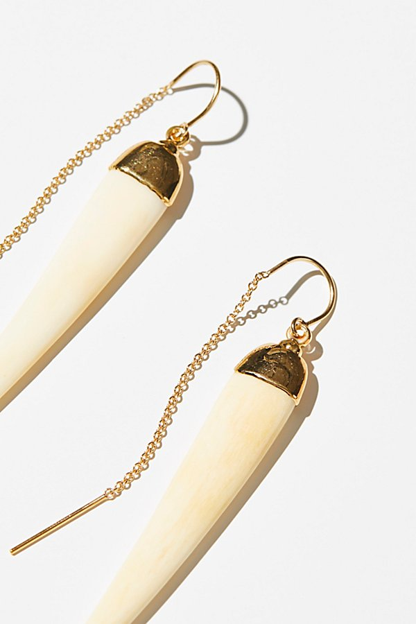 Slide View 3: Tusk Threader Earrings