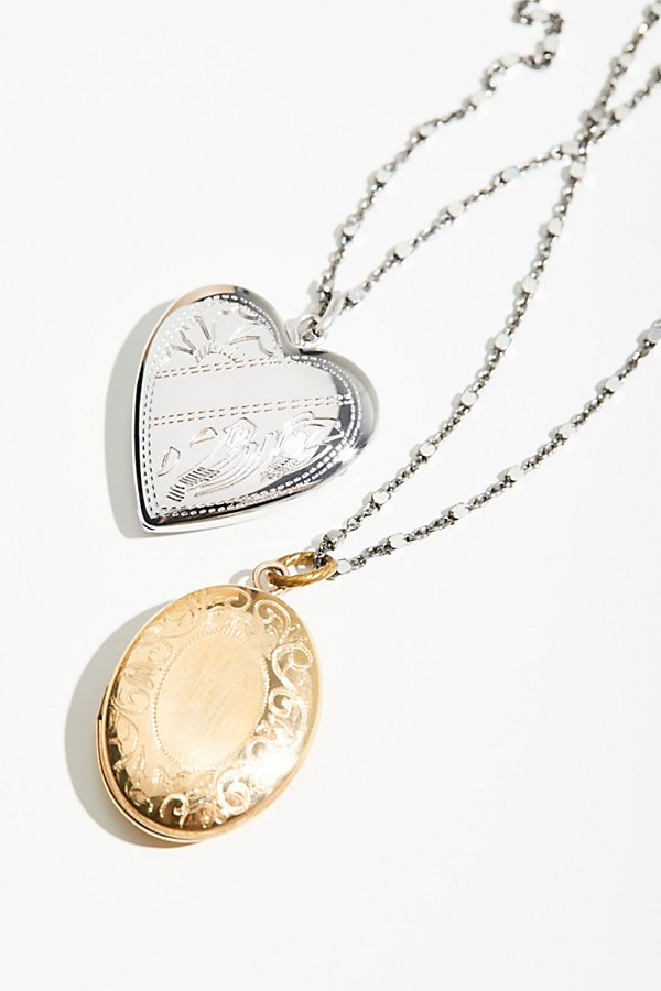 Slide View 1: Shimmer Chain Locket Necklace
