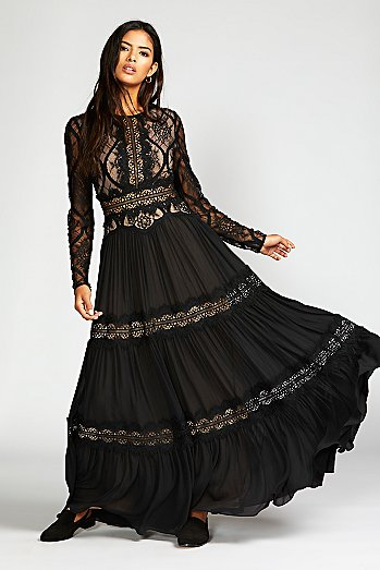 Shadow Lace Maxi Dress