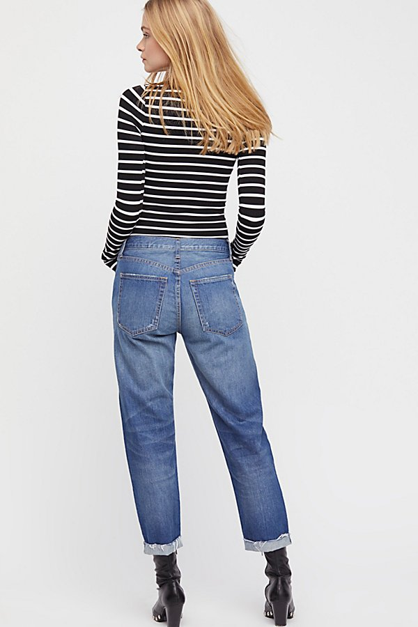 Slide View 2: Rip Zip Slim Boyfriend Jeans