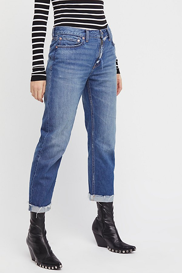 Slide View 3: Rip Zip Slim Boyfriend Jeans