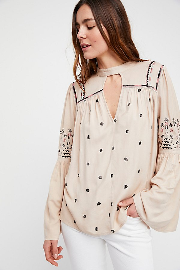 Slide View 1: Winter Daisy Embroidered Tunic