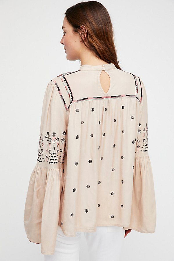 Slide View 2: Winter Daisy Embroidered Tunic