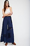 Thumbnail View 1: Patched Eyelet Wide Leg Trousers
