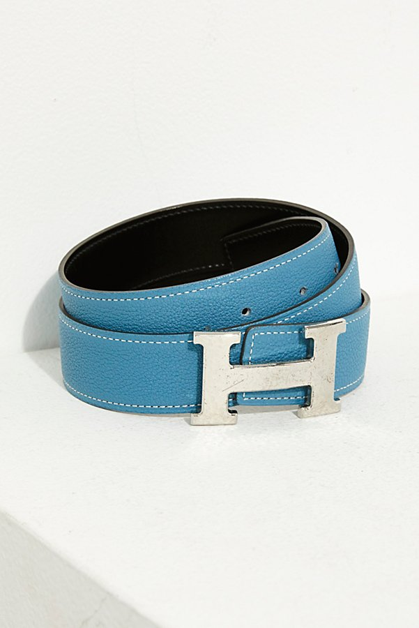 Slide View 1: Vintage Hermès Leather Belt