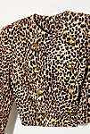 Thumbnail View 2: Vintage 1980s Cropped Leopard Jacket