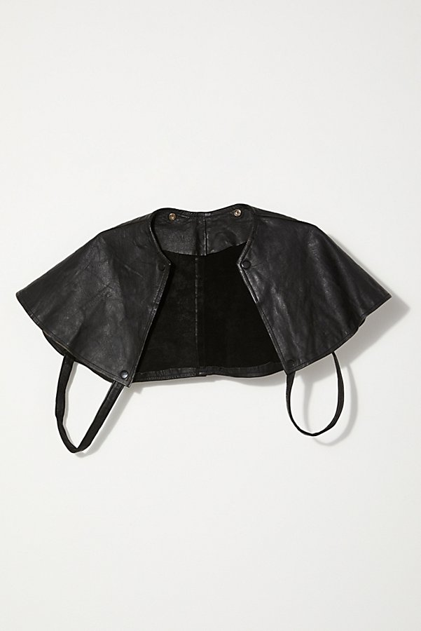 Slide View 1: Vintage 1960s Leather Cape