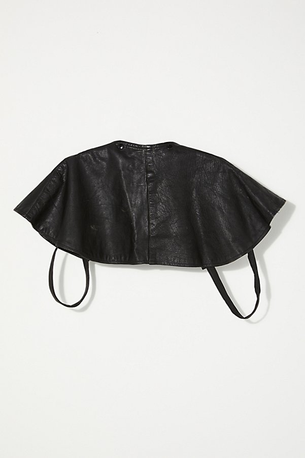 Slide View 4: Vintage 1960s Leather Cape