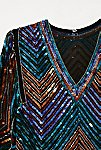 Thumbnail View 2: Vintage 1980s Chevron Sequin Top