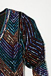 Thumbnail View 3: Vintage 1980s Chevron Sequin Top